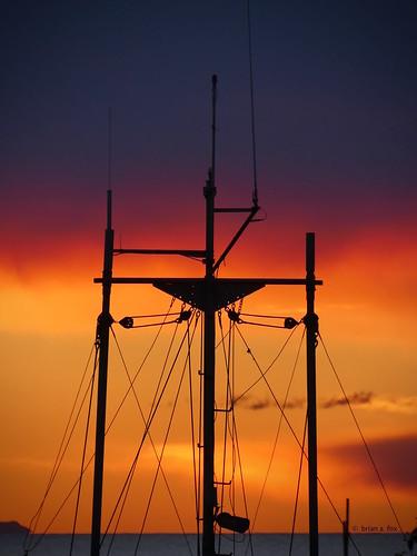 sunset colour sky silhouette mast lines angles steveston georgiastrait beautifulbritishcolumbia