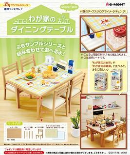 RE-MENT「我家的餐桌」凝聚家庭和樂的氣氛!わが家のダイニングテーブル