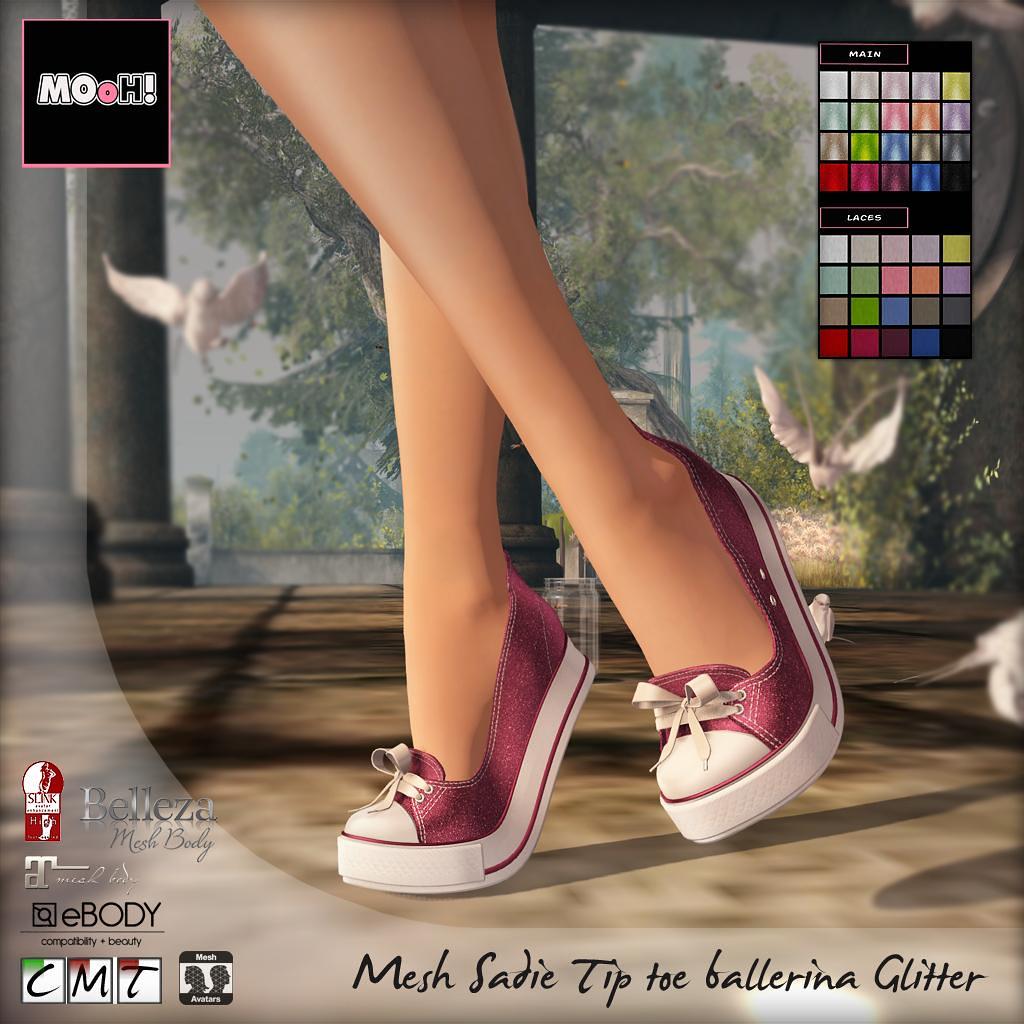 Sadie tip toe ballerina glitter - SecondLifeHub.com