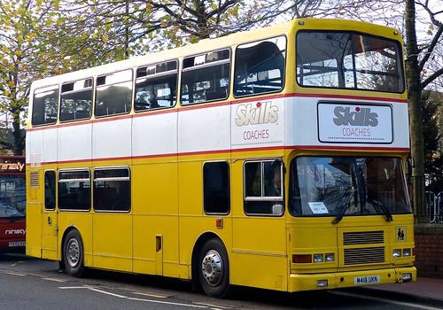 M418 UKN 'Skills Coaches' Volvo Olympian / Alexander RH on 'Dennis Basford's railsroadarunways.blogspot.co.uk'