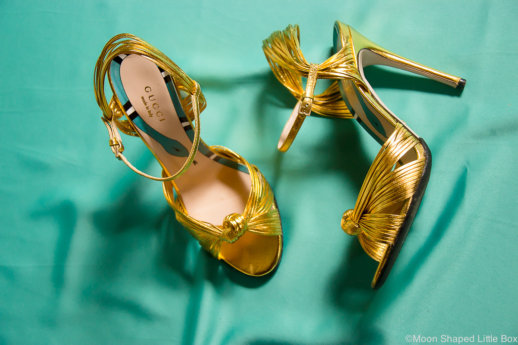 Gucci heels, Gold stilettoheels