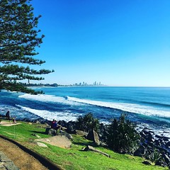#gorgeous #goldcoast #morning #beachlife #surf calm a couple #surfers getting wet #cycling #cyclinglife #cycle