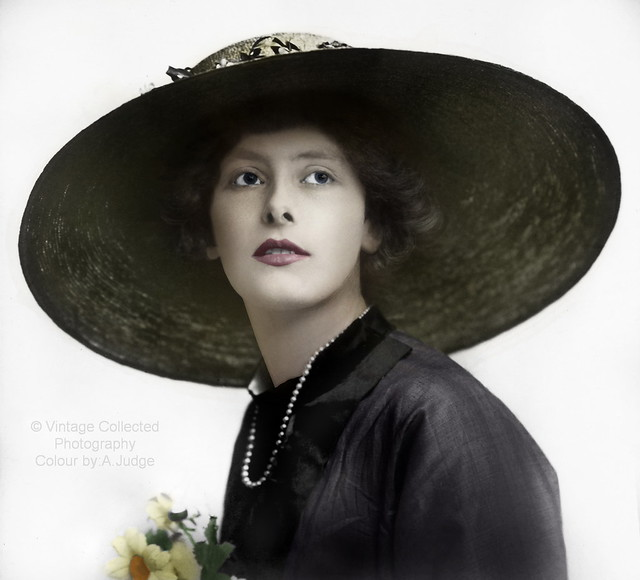 The Big hat style c1910..Hand coloured by myself.