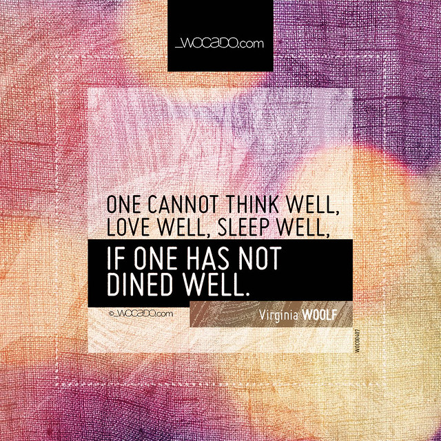 One cannot think well, love well, sleep well by WOCADO.com