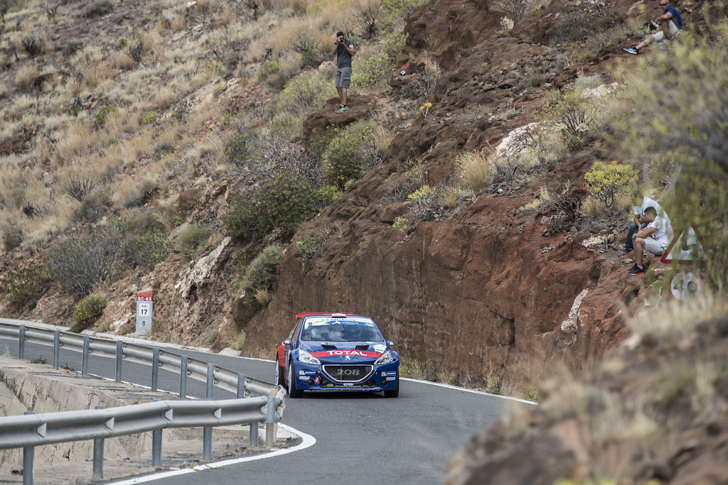 09 SUAREZ Jose Antonio (ESP), ESTEVEZ Candido (ESP),  Peugeot 208 T16 Action during the 2017 European Rally Championship ERC Rally Islas Canarias, El Corte Inglés,  from May 4 to 6, at Las Palmas, Spain - Photo Gregory Lenormand / DPPI