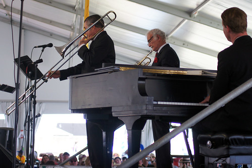 Original Dixieland Jazz Band in the Economy Hall Tent on Day 6 of Jazz Fest - May 6, 2017. Photo by Bill Sasser.