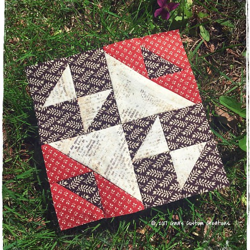 Peace & Healing Block of the Week: Block 19, Old Maid's Puzzle.