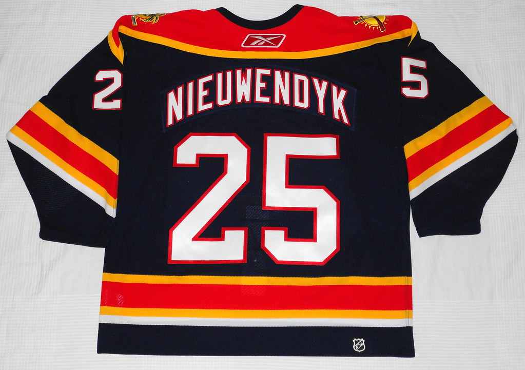 2005-06 Joe Nieuwendyk Florida Panthers Home Jersey Back
