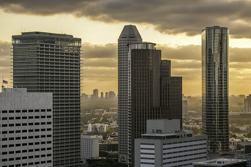 2017 hff harriscounty houston houstoncenter mabrycampbell may texas usa architecture building buildings cityscape downtown image orange panorama photo photograph skyline sunset