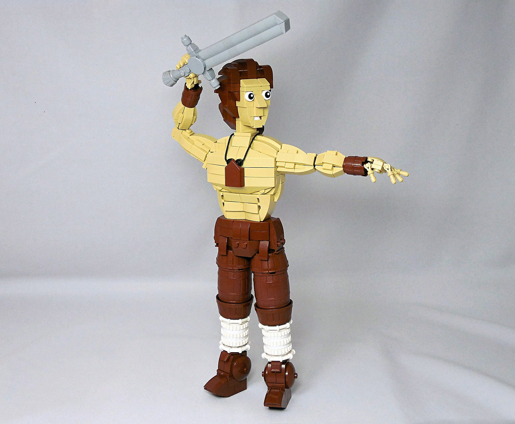Conan the Barbarian (custom built Lego model)