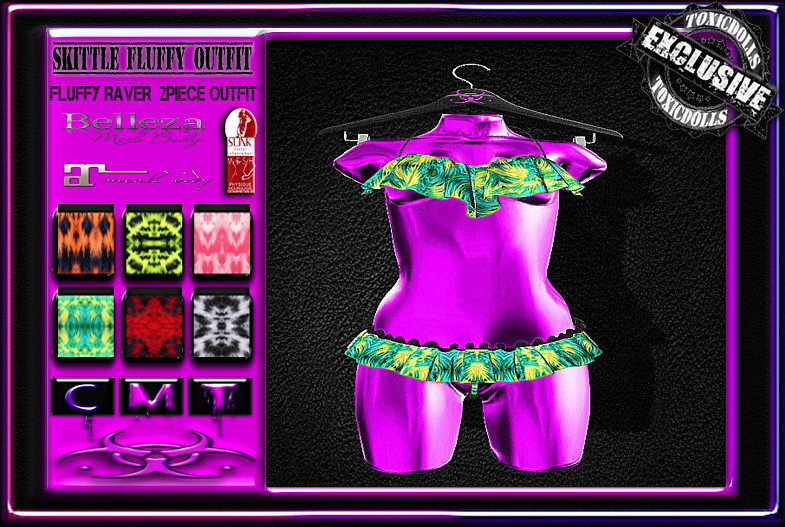 [TD] Skittles Fluffy Outfit - SecondLifeHub.com