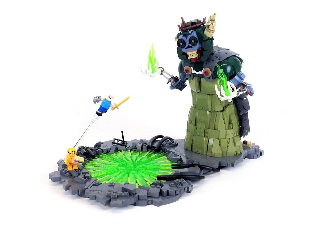 Finn vs The Lich (custom built Lego model)