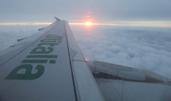 Sunset at 30.000 feet with ALITALIA flight.