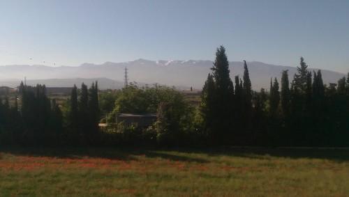 Góry Sierra Nevada pod Granadą