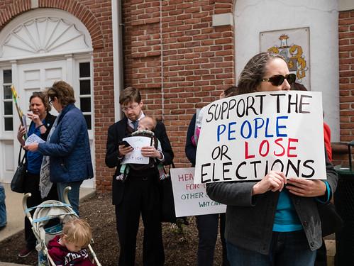 Outside Congressman Rodney Frelinghuysen's Office, May 4, 2017