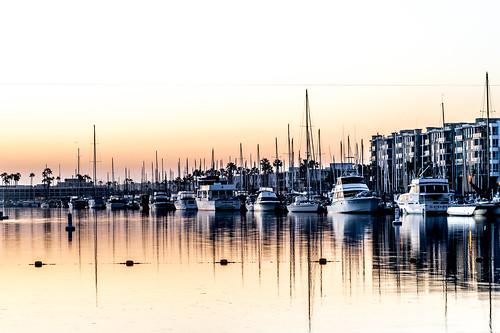 marinadelrey california unitedstates us sunrise marina boat ship dock