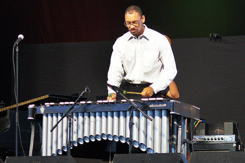 Jason Marsalis in the Jazz Tent on Day 5 of Jazz Fest - May 5, 2017. Photo by Bill Sasser.