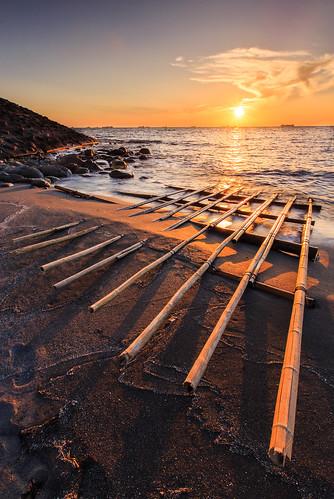 旗津區 高雄市 台灣 taiwan kaohsiung 6d ef1635mm sunset 日落 夕陽 夕彩 海岸 海灘 海邊 海浪 旗津海岸公園 貝殼博物館