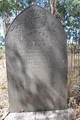 Sarah Jacobs' Headstone
