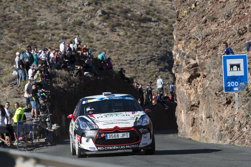 39 FALCON  RODRIGUEZ Emma (ESP),  FERNANDES PALAZUELOS Sara (ESP), CITROEN DS3 R3 during the 2017 European Rally Championship ERC Rally Islas Canarias, El Corte Inglés,  from May 4 to 6, at Las Palmas, Spain - Photo Gregory Lenormand / DPPI
