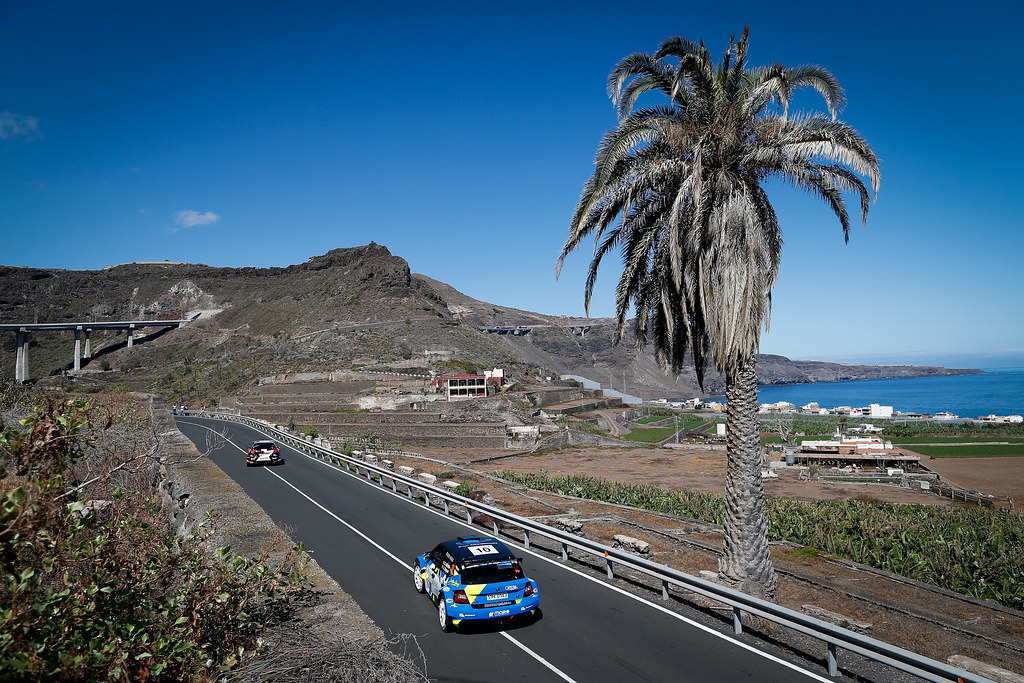 10 MICHEL Sylvain (FRA), DEGOUT Jerome (FRA), Skoda Fabia R5, Action during the 2017 European Rally Championship ERC Rally Islas Canarias, El Corte Inglés,  from May 4 to 6, at Las Palmas, Spain - Photo Alexandre Guillaumot / DPPI