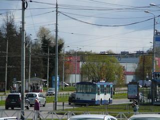 Riga trolleybus Škoda 14Tr89/6 11167, training
