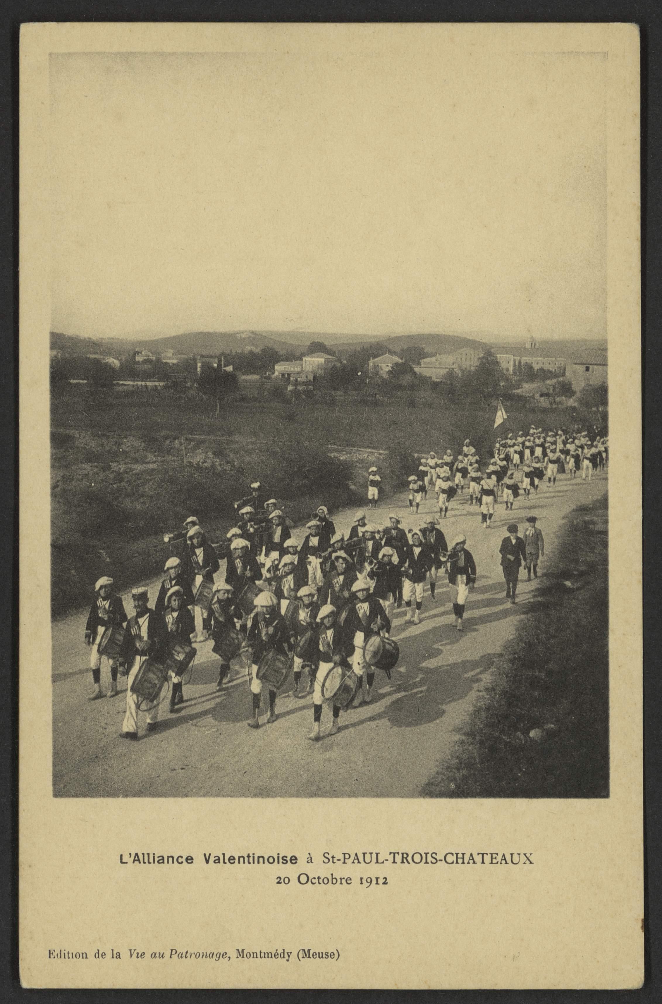 L'Alliance Valentinoise à St-Paul-Trois-Châteaux, 20 Octobre 1912