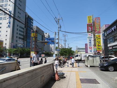 下端駅の1番出口