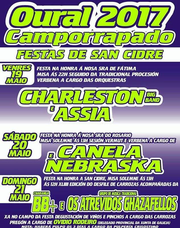 Boqueixón 2017 - Festas en Oural-Camporrapoado - cartel
