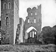 """""""Church ruins with pointed arches"""" is Kildare Cathedral"""