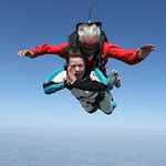 Tandem Skydiving With Laurie And Her Instructor Cliff