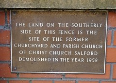 Photo of Christ Church, Salford brown plaque