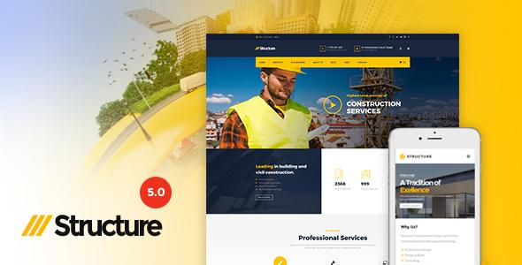 Structure v5.0 - Construction WordPress Theme