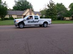 Sherriff's truck blurs on by!
