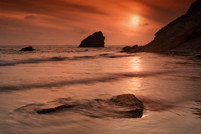 Broad haven sunset, Canon EOS 6D, Canon EF 17-40mm f/4L