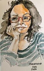Christina 8 for JKPP  Ink and watercolor