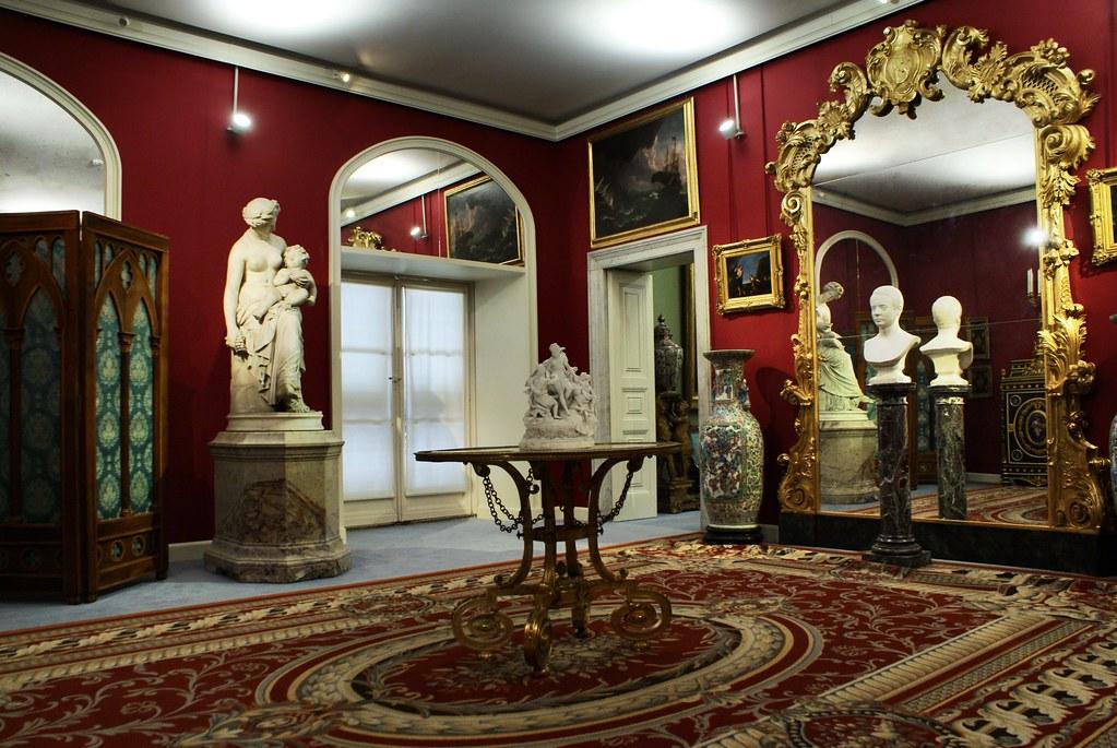 A l'intérieur du Palazzo Rosso à Gênes.