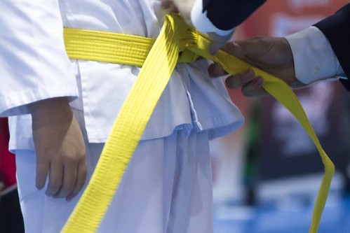 I am grateful to have discovered this art, it helps me to strengthen body and mind.  IG: un_fotografo_cualquiera FB: wonso  #photo #image #instashoot  #line #light #taekwondo #man #floor #belt #yellow #martialarts #competition #Picture #itf #Master #peopl