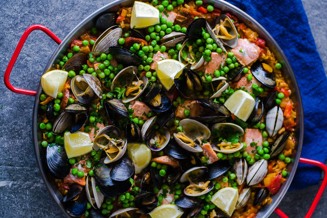 Seafood and chorizo paella the little ferraro kitchen seafood and chorizo paella forumfinder Images