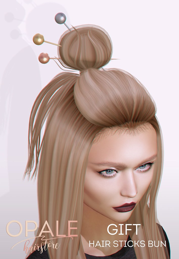 Opale . Hair Sticks Bun / GIFT for TRES CHIC 2nd Birthday - SecondLifeHub.com