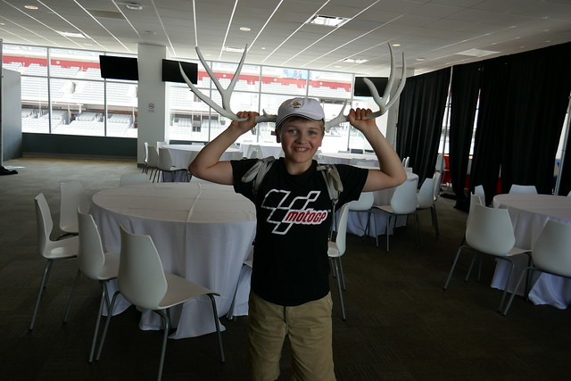 Alex helps set up our VIP suite