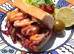 TORTA DE CAMARONES (LONCHE) (MEXICAN SHRIMP SANDWICH)