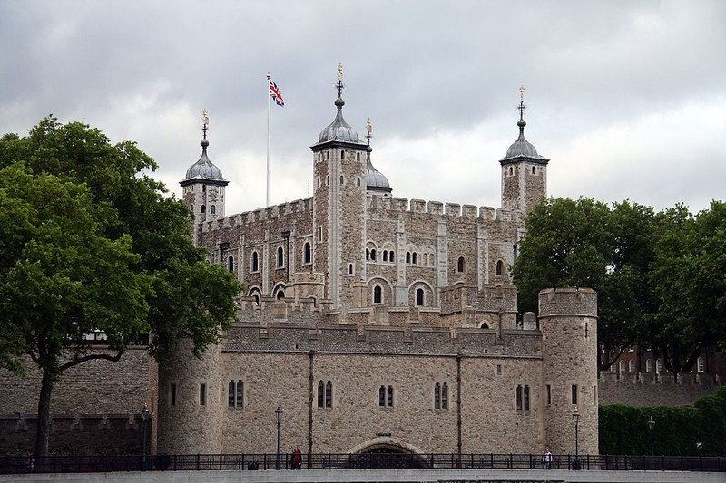 View of the White Tower at the Tower of London