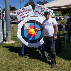 I won this stylish hat with a bullseye shot. #conejovalleydays