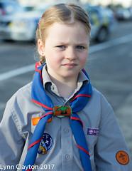 Vera, a young Kea Scout, Newmarket Anzac Parade 2017