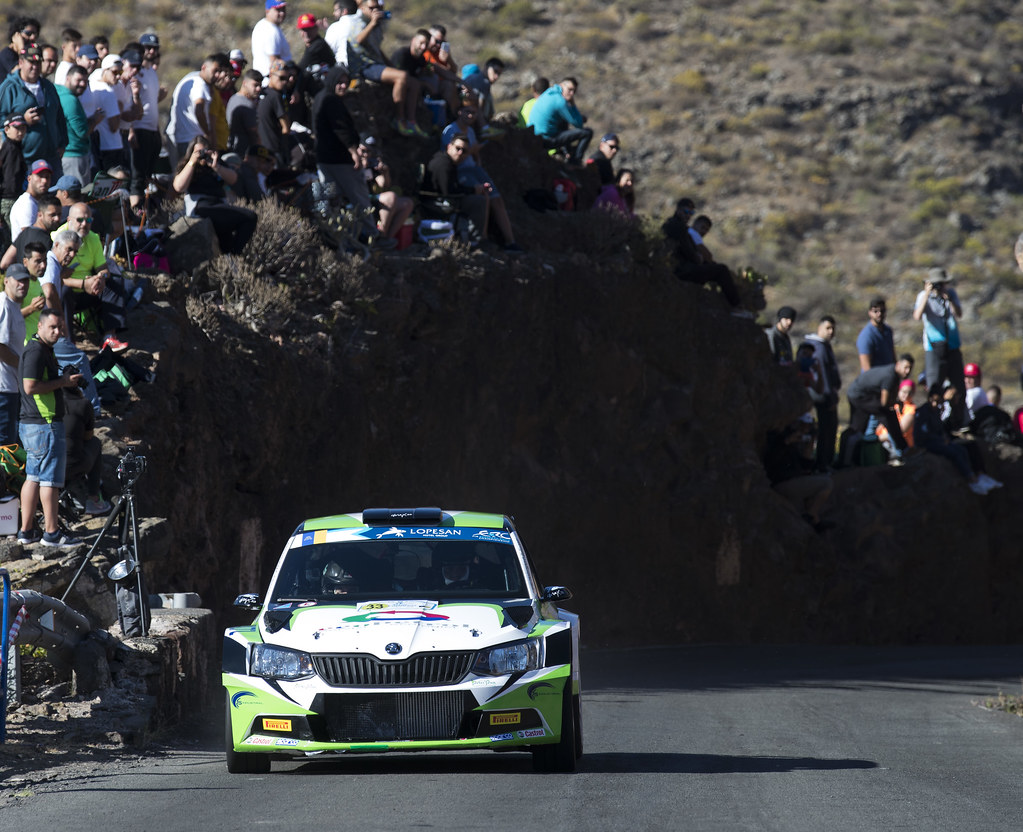 33 RENDINA Max (ITA), INGLESI EMANUELE (ITA), Skoda Fabia R5, Action during the 2017 European Rally Championship ERC Rally Islas Canarias, El Corte Inglés,  from May 4 to 6, at Las Palmas, Spain - Photo Gregory Lenormand / DPPI