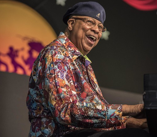 Chucho Valdes at Jazz Fest Day 7.  Photo by Marc PoKempner