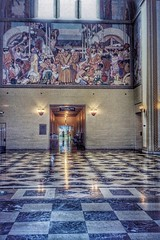 Los Angeles Ca ~ LA Central Public Library ~ Rotunda ~ Lobby Mural