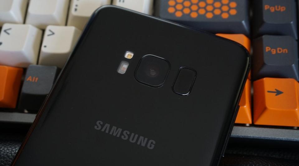 The Galaxy S8 fingerprint sensor. (Ryan Whitwam)