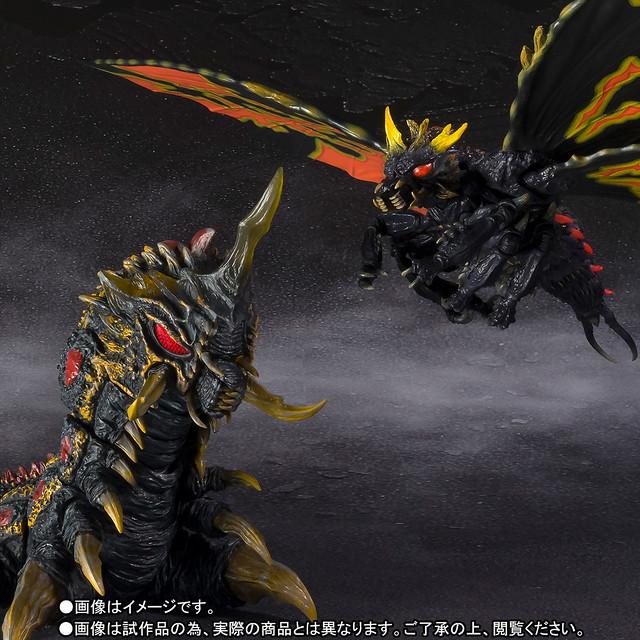 極彩色大決戰!S.H.MonsterArts 《哥吉拉vs摩斯拉》巴特拉(バトラ)成蟲&幼蟲 Special Color Ver.